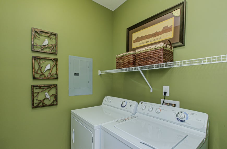 Laundry room in a Bloomington townhome.